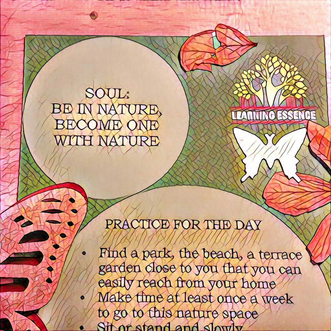 #NaBloPoMo: Day #11: Soul- Be in nature, become one with nature