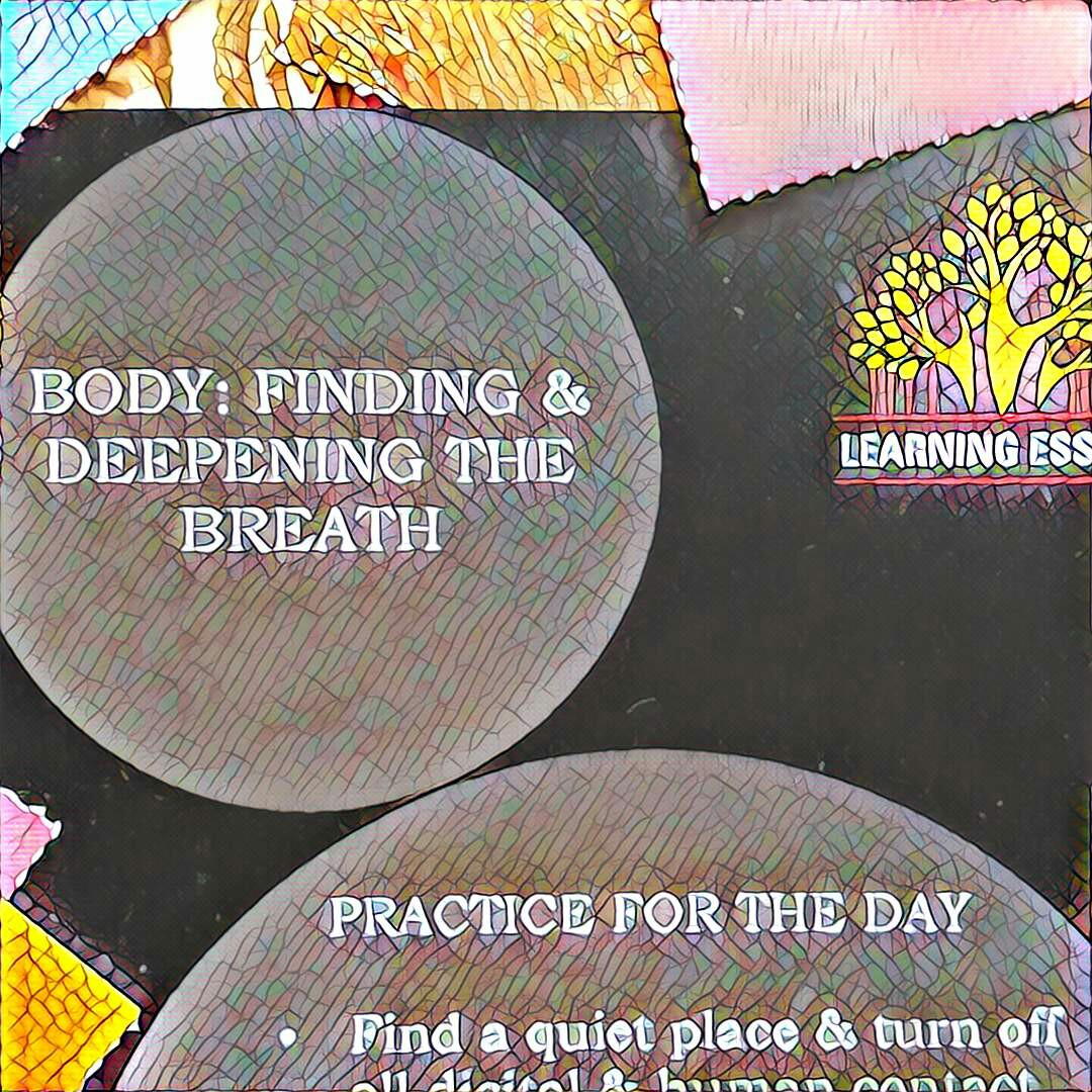 #NaBloPoMo: Day #22: Body-Finding & deepening the breath