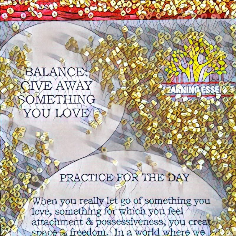 #NaBloPoMo: Day #27: Balance – Give away something you love!