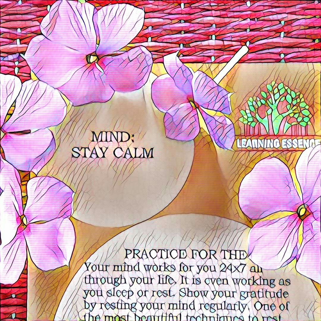 #NaBloPoMo: Day #28: Mind-Stay Calm!